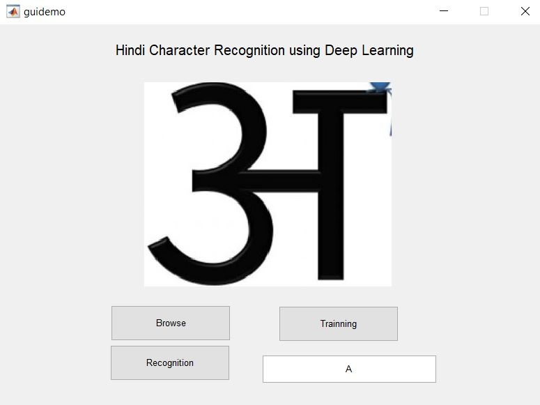 Hindi Character Recognition using Deep learning-Matlab