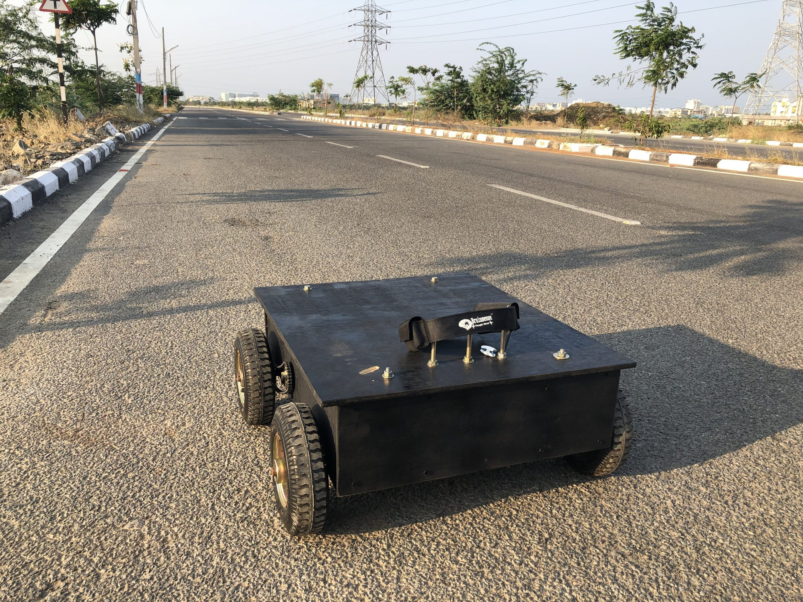 Real time Brain controlled vehicle using Brainsense