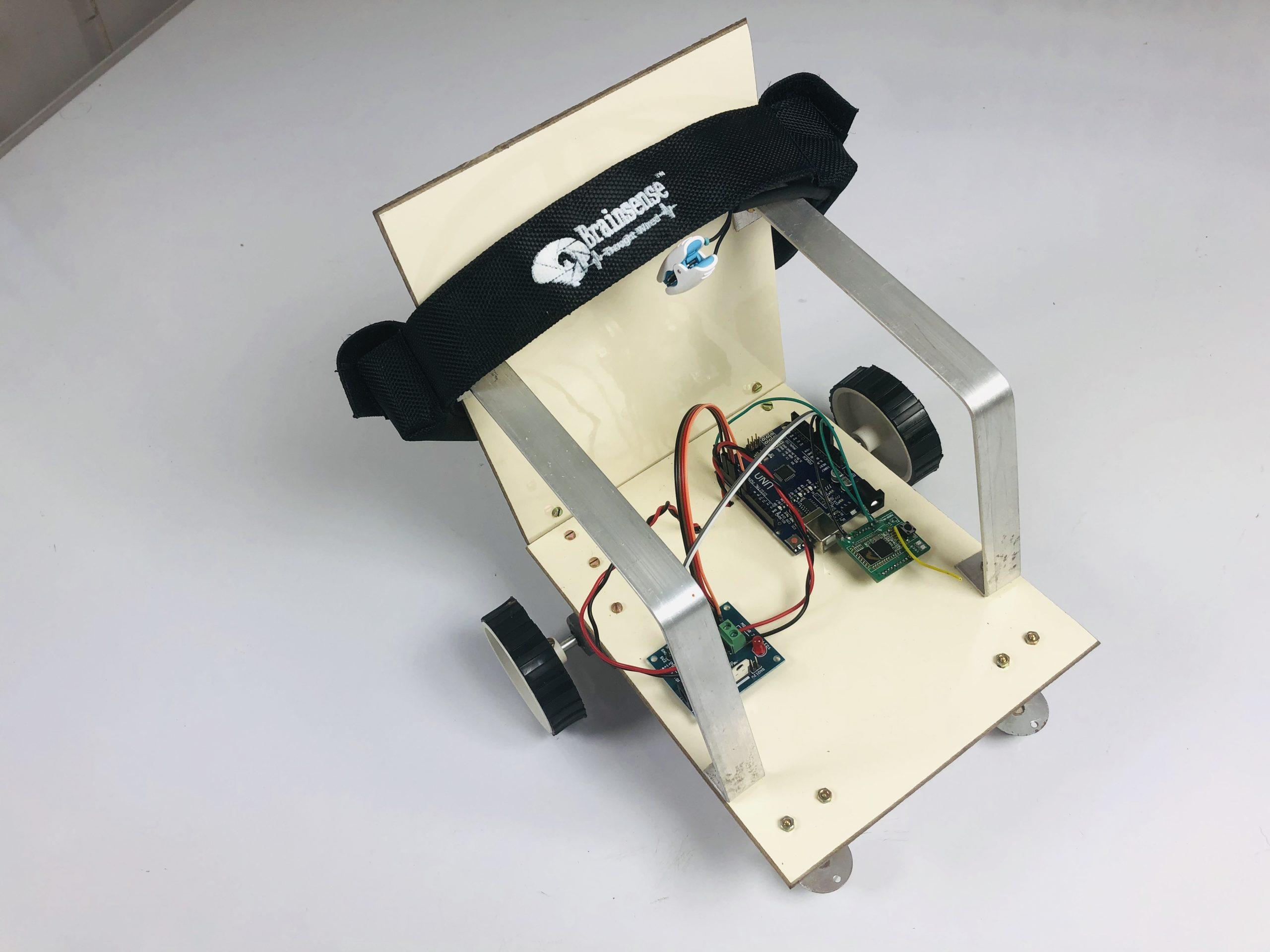Brain controlled miniature wheelchair
