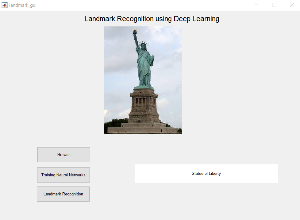 Landmark recognition using Deep Learning-Matlab