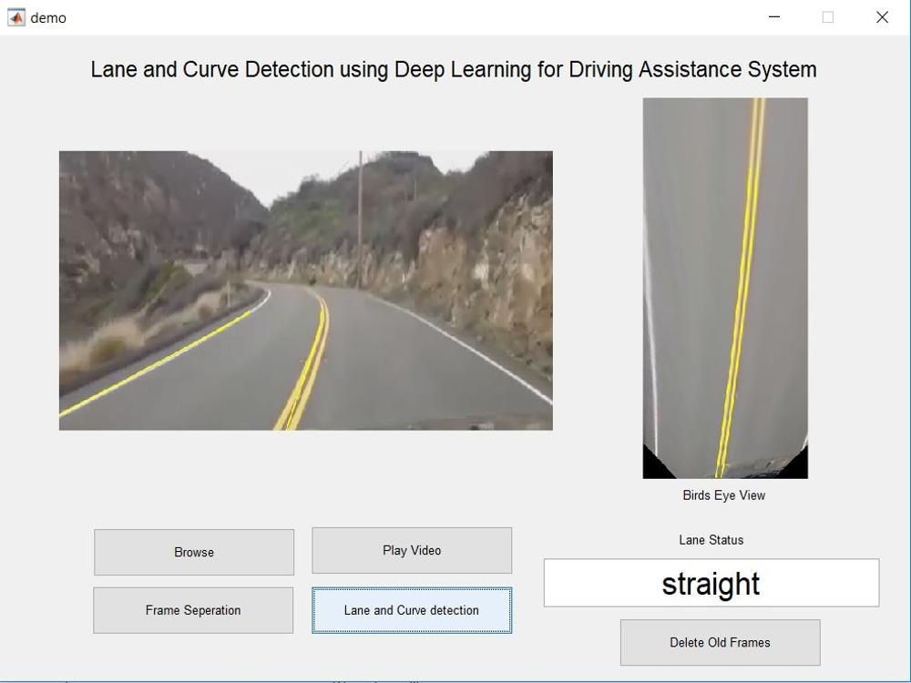 Lane and Curve Detection using Deep Learning for Driving Assistance System -Deep Learning Project