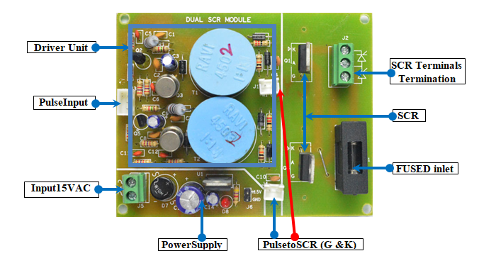 Dual Scr Module With Isolated Gate Driver Unit