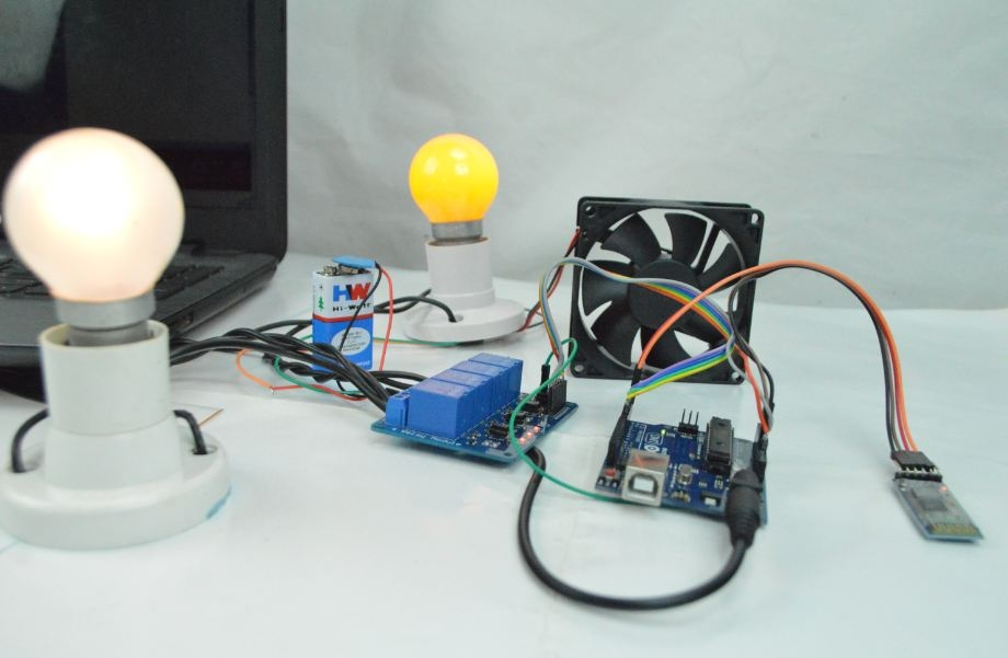 Leap Motion Controlled Home automation using arduino