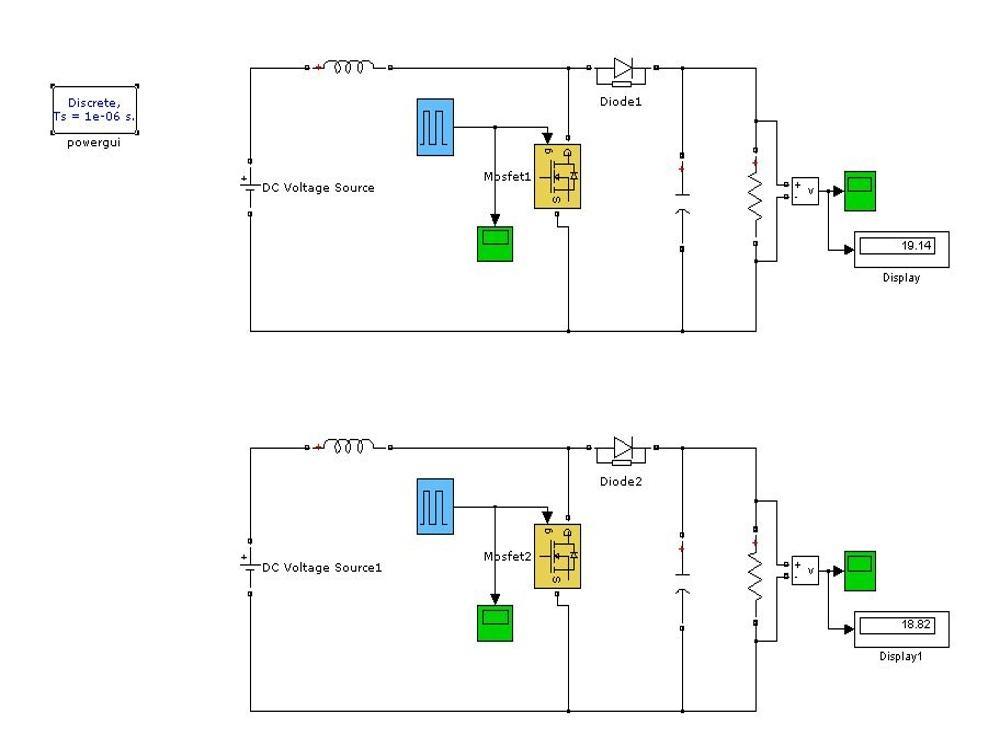 Open Loop Control of Boost Converter