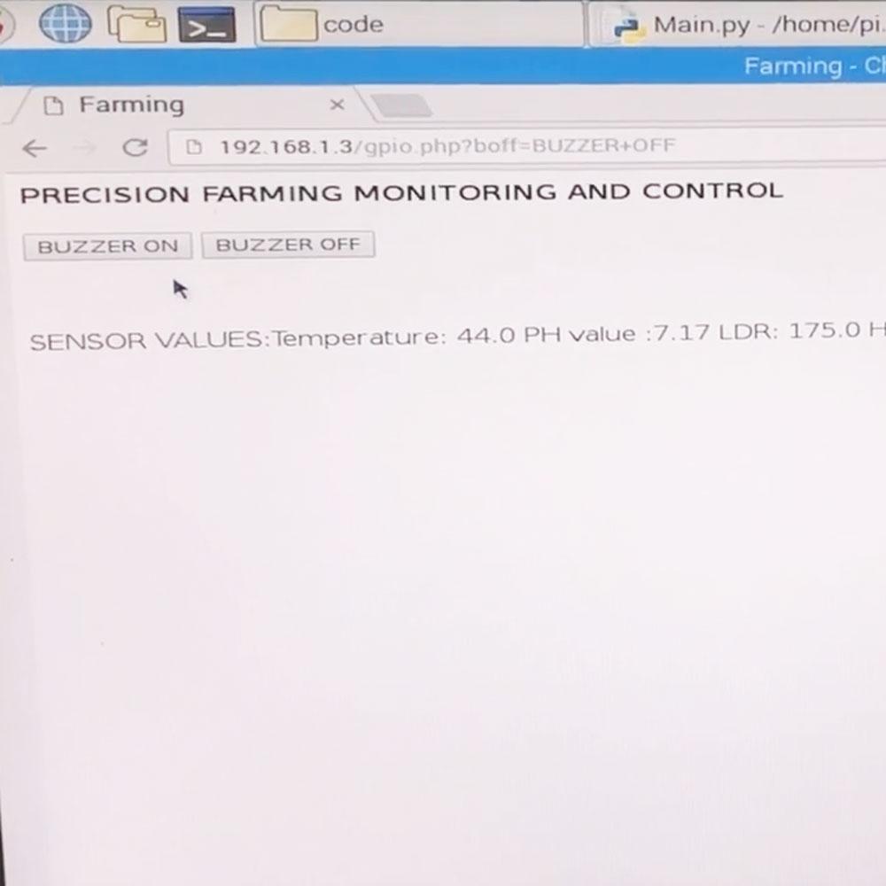 Precision Farm Monitoring and Controlling using Raspberry Pi