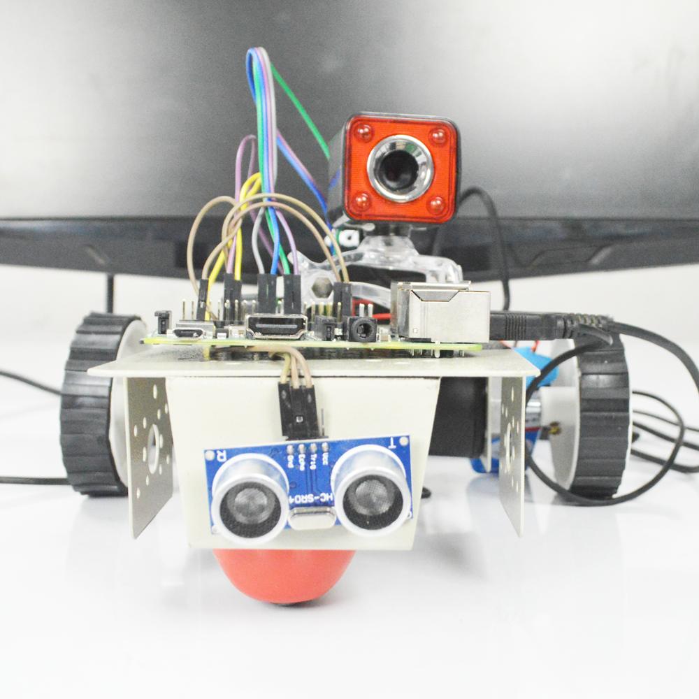 Raspberry Pi based Autonomous Webcam Robot