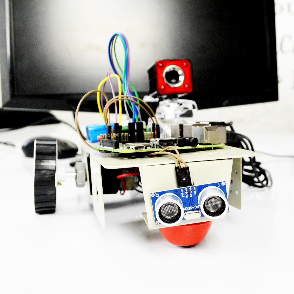 Raspberry Pi based live Webcam Robot control using webpage