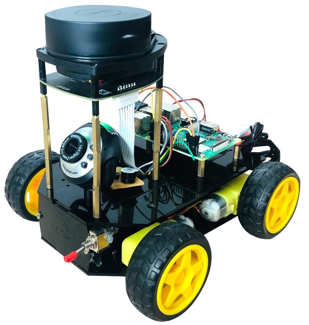 Self-navigating robot using Lidar with Raspberry Pi