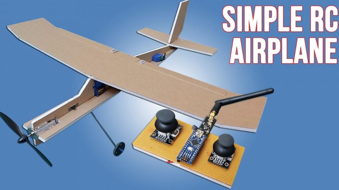 Simple RC Airplane using Arduino Radio Control