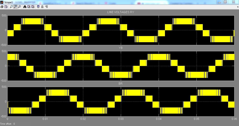 3 Phase Cascaded Three Level Inverter using Matlab simulink