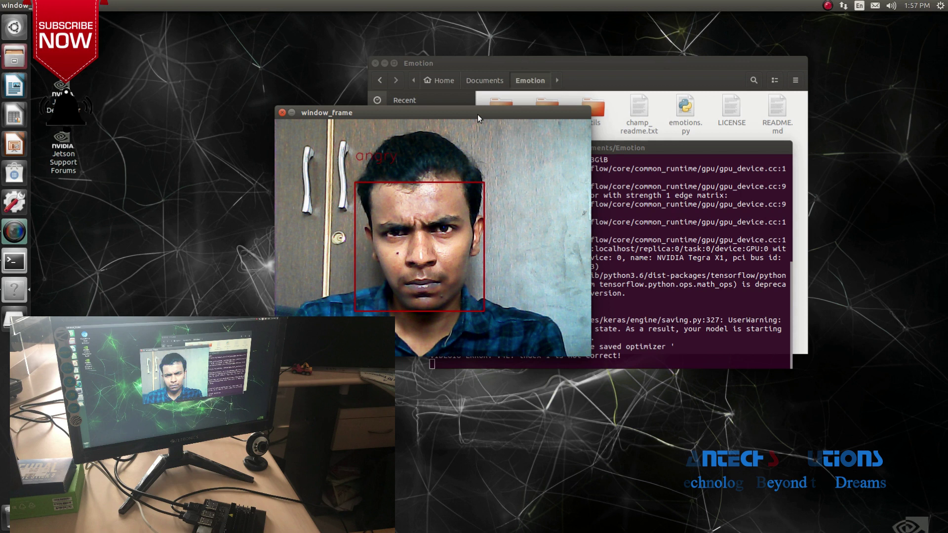 Face Expression Detection using Nvidia Jetson Nano