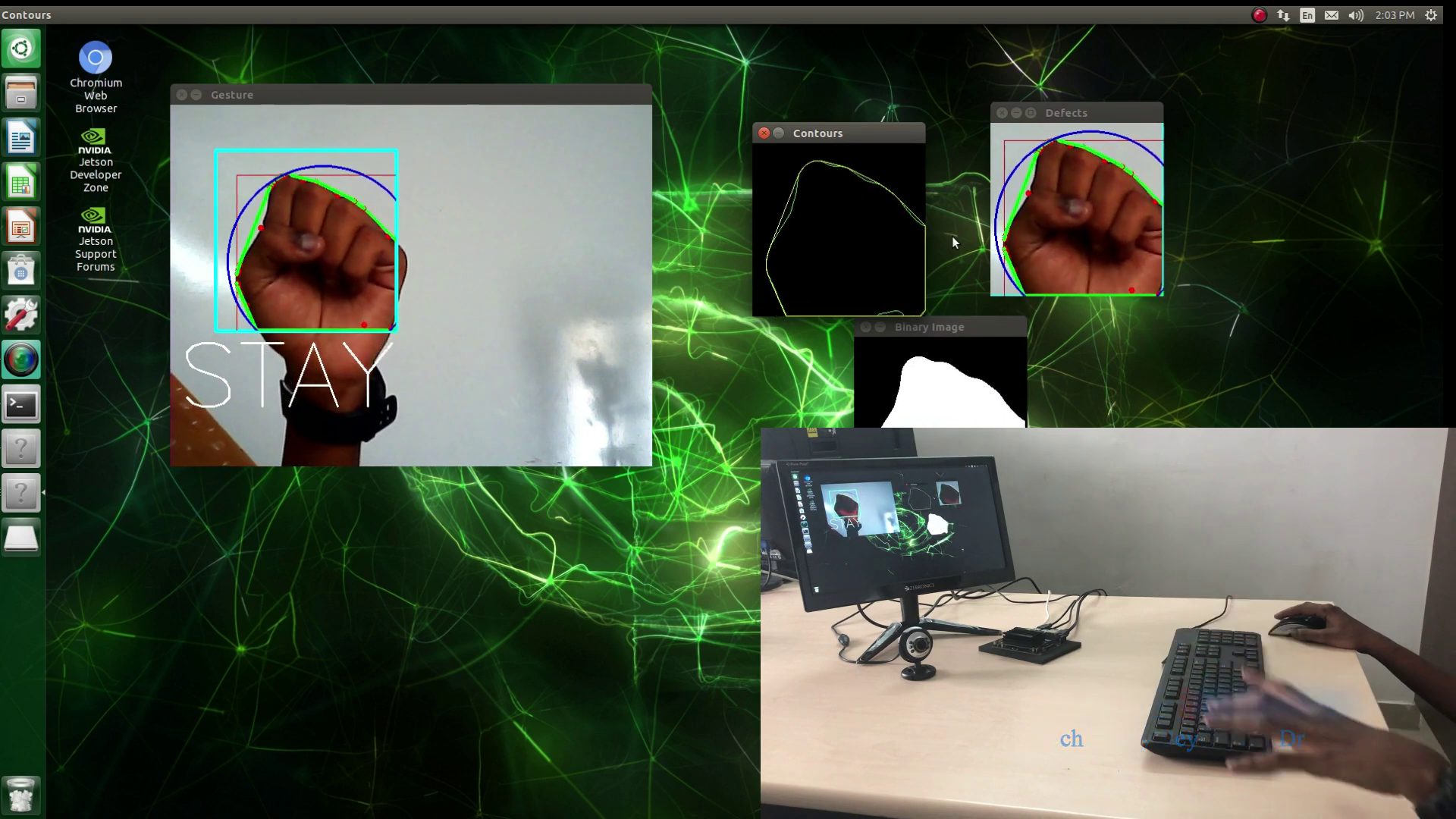 Gesture recognition using Jetson Nano