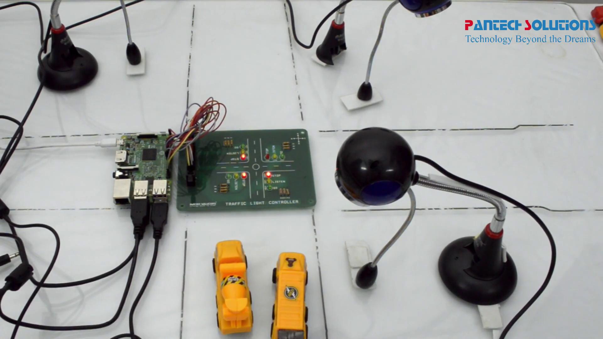 Traffic Light System using Raspberry Pi and OpenCV