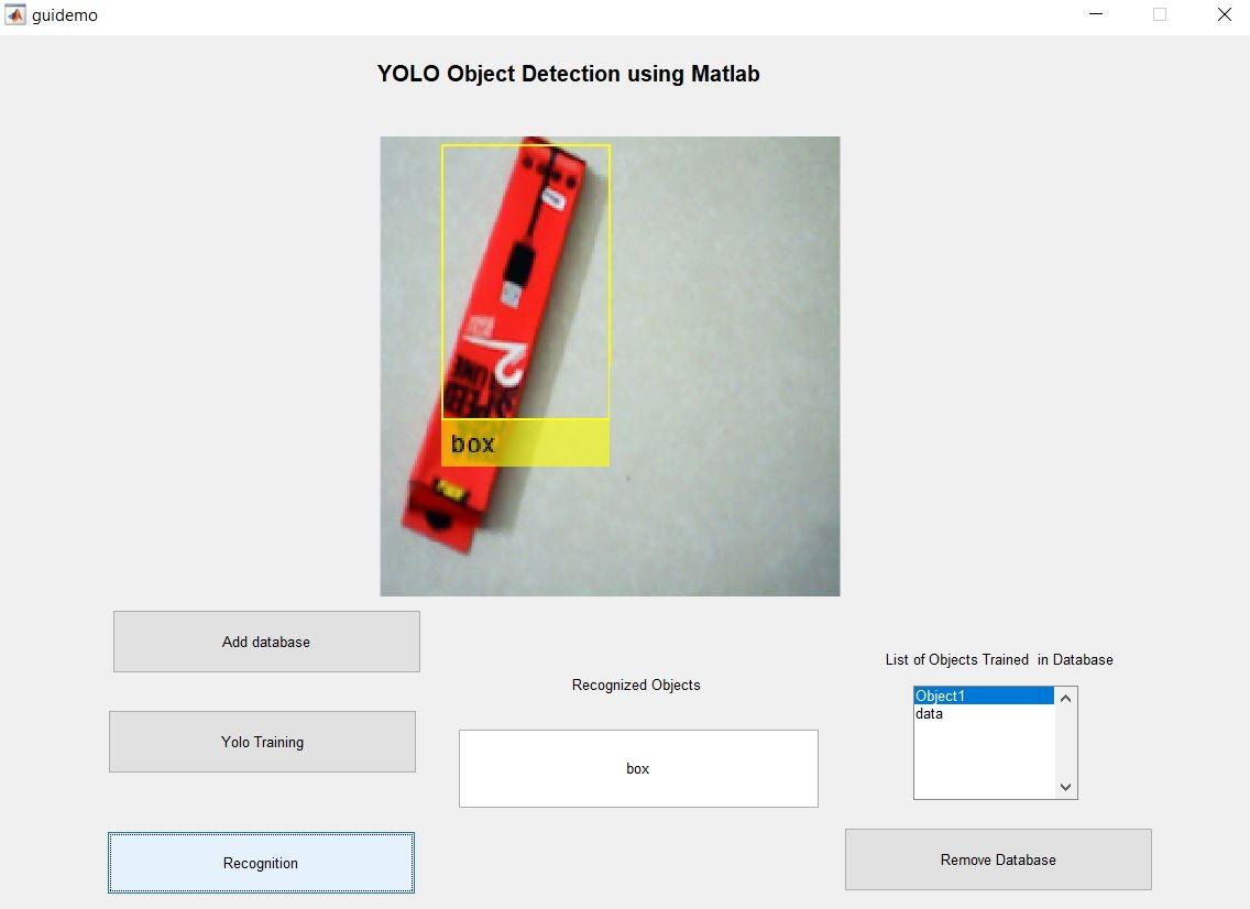 Yolo Object detection using Matlab